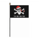 Pirate Christmas Yo Ho Ho Hand Flag - Small